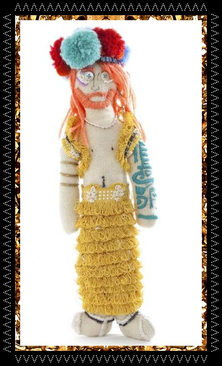 Trippy Tranny Tribe doll £169, unique decorative object collaboratively created in the Kingdom of Razz