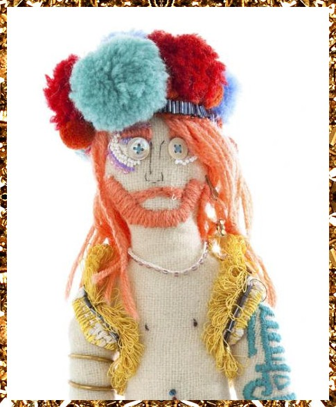 Trippy Tranny Tribe art doll £169, collaboratively created in the Kingdom of Razz