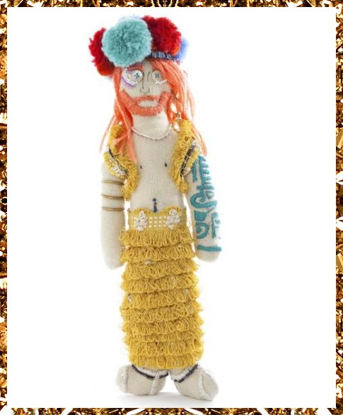 Trippy Tranny Tribe art doll £169, unique handcrafted decorative object from Kingdom of Razz