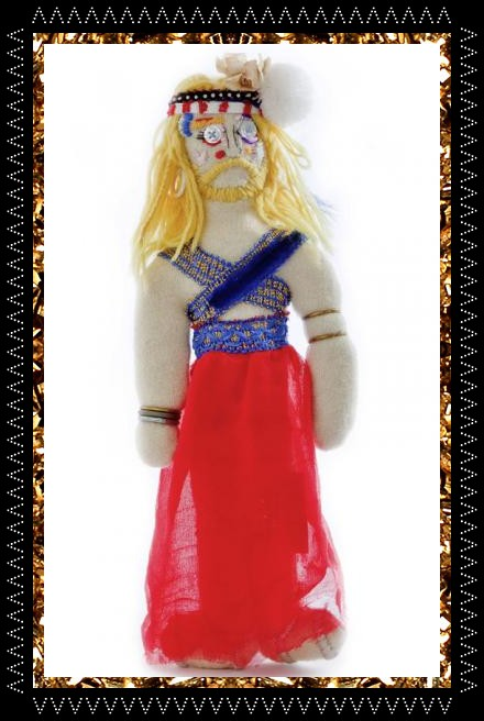 Trippy tranny tribe art doll from Kingdom Of Razz