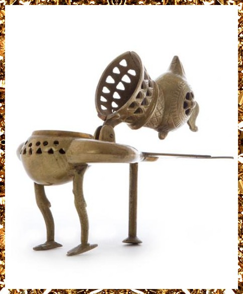 Surreal brass bird incense burner £165, one-off decorative homeware and eclectic home accessories from Kingdom of Razz