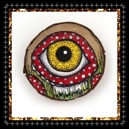 Surreal eye painting on wood £55, original decorative homeware from arty concept store Kingdom of Razz