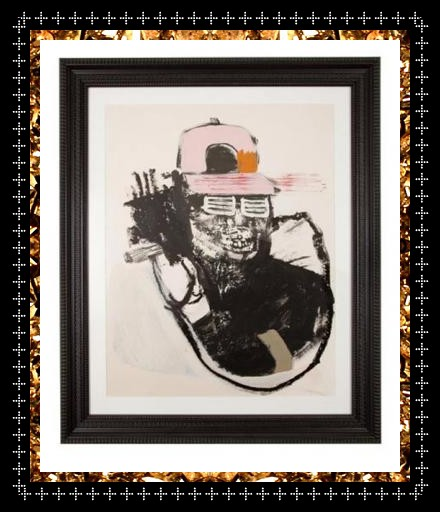 Smoking Yeah, original mixed media painting, bespoke framed from Kingdom of Razz