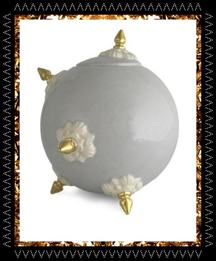 Limited edition ceramic bomb pot. A collectable and super cool decorative object by Atelier Polyhedre at Kingdom of Razz.