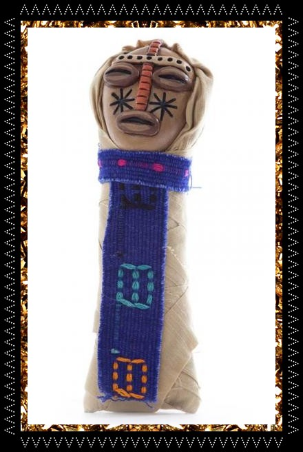 Lucky talisman voodoo doll, handcrafted one-off from decorative homeware store Kingdom of Razz