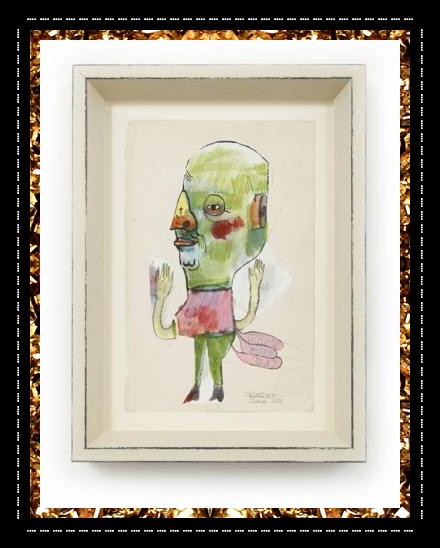 Super-cool mixed media original artwork £275, bespoke framed and available to buy from Kingdom of Razz