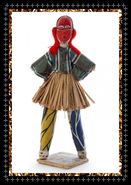 Vintage tribe art doll, a unique decorative object from Kingdom of Razz