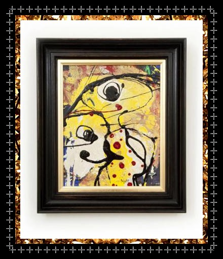 Crazy cool outsider art, original affordable art £425 from Kingdom of Razz