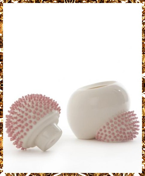 Pink ceramic urchin pot £150, handcrafted decorative object from art & decorative object boutique Kingdom of Razz.