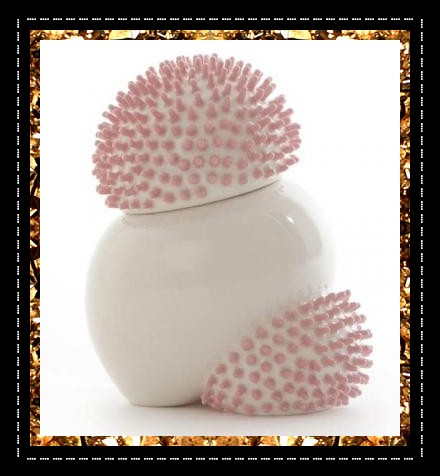 Ikuko Iwamoto porcelain pot £150. Uber-cool ceramic urchin pot. A unique decorative object from Kingdom of Razz